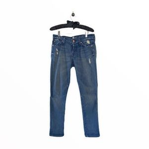7 For All Mankind Skinny Boyfriend Mid-Rise Jeans